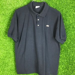 Lacoste Polo Shirt Navy Size 6 Croc Embroider Logo